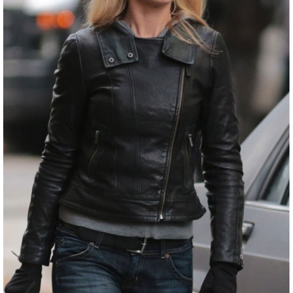 Fringe Olivia Dunham Biker Black Jacket