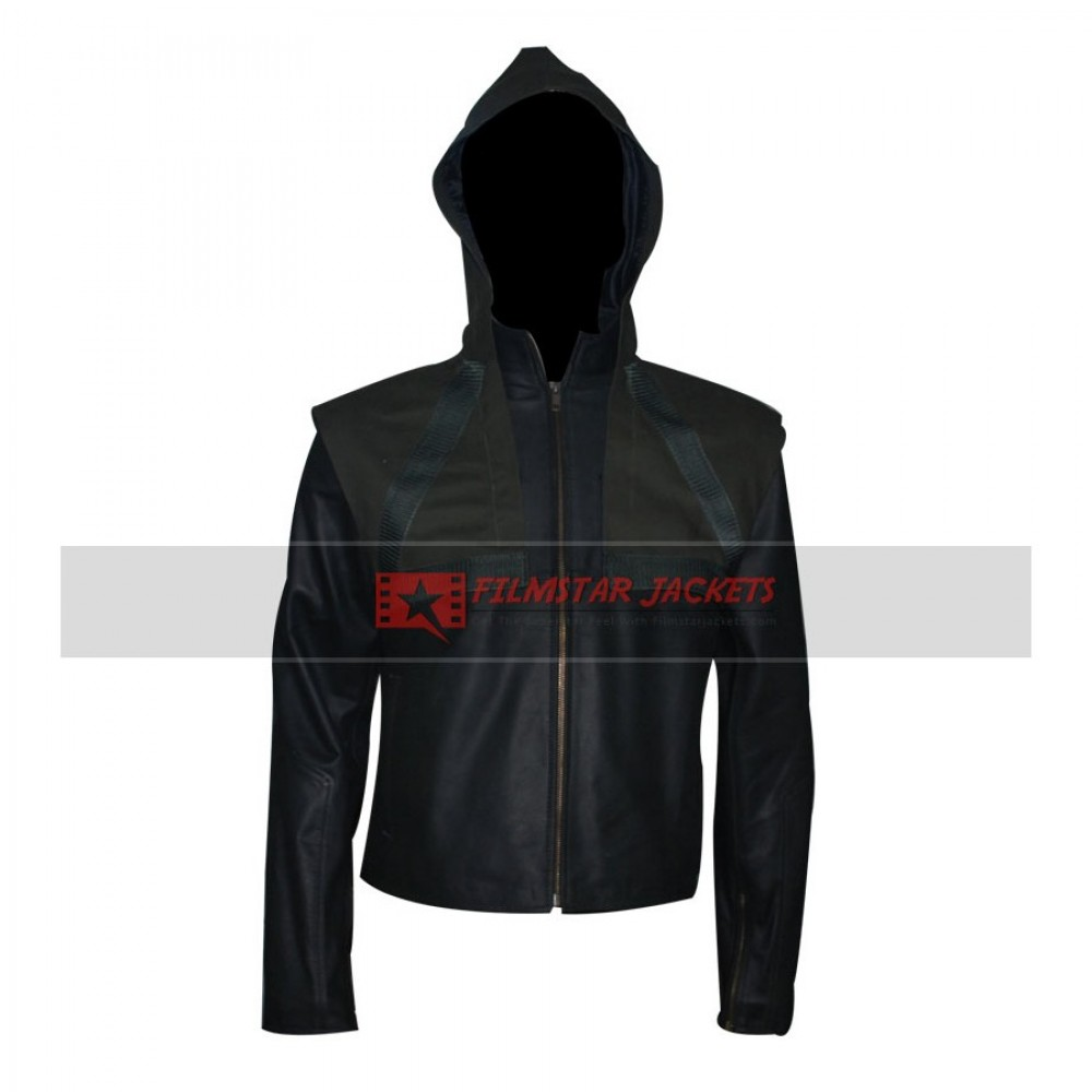 Arrow Stephen Amell Hooded Removable Vest Jacket