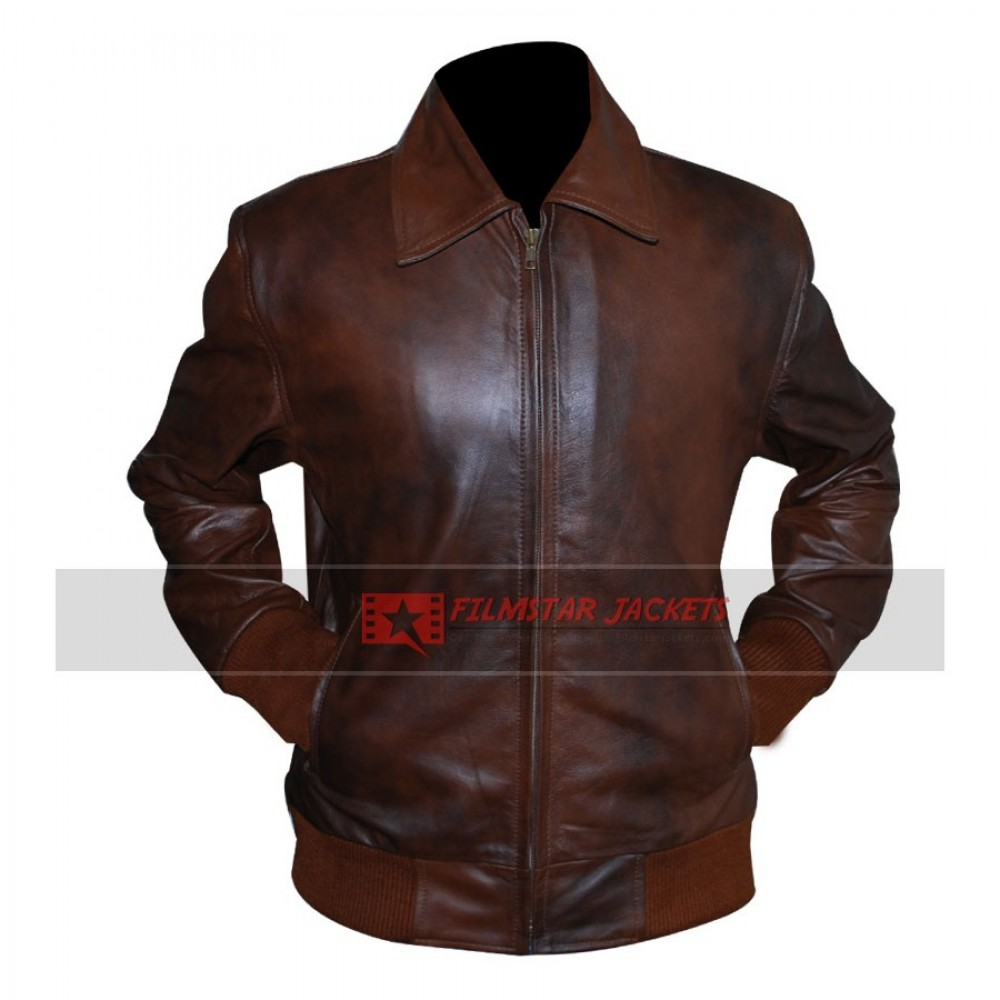 Happy Days Fonzie Brown Bomber Leather Jacket
