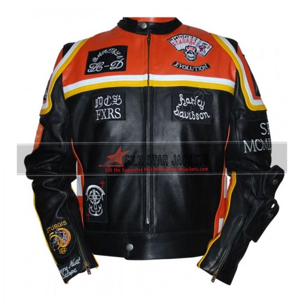 Harley-Davidson and Marlboro Man Inspired Leather Biker Jacket