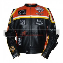 Harley-Davidson and Marlboro Man Inspired Leather Biker Jacket