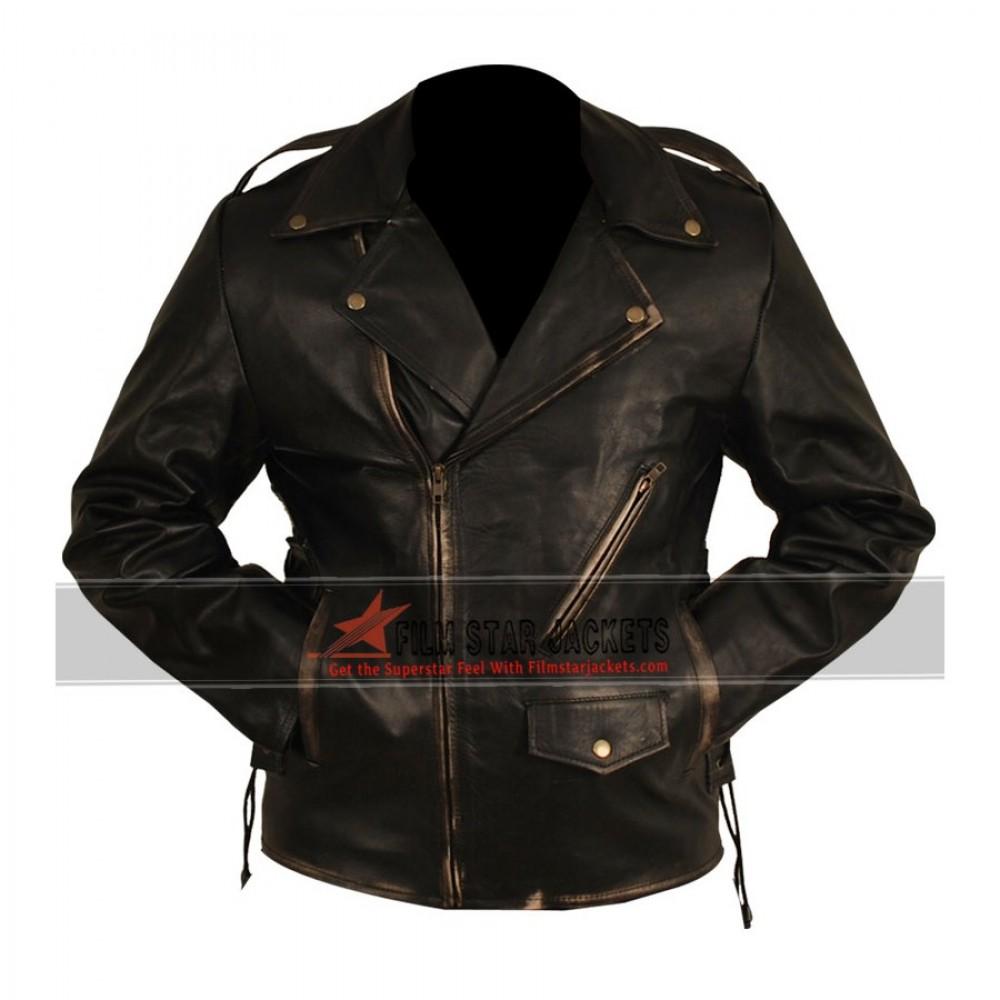 Heavy Duty Distressed Motorcycle Jacket