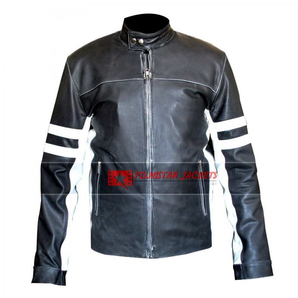 House Of D David Duchovny Black Jacket With White Stripes