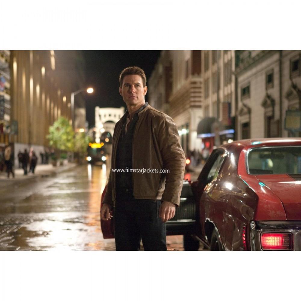 Jack Reacher: Tom Cruise Brown Leather Jacket For Men