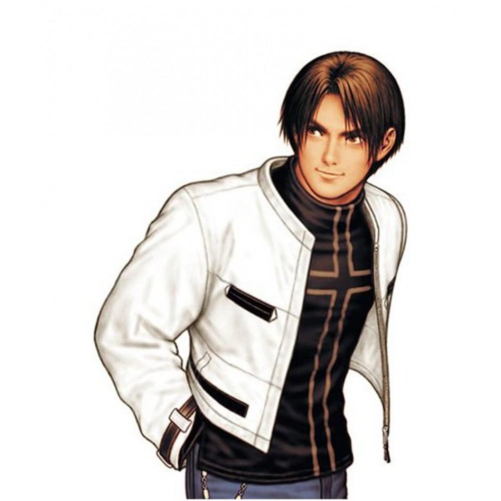 King Of Fighters Cosplay Kyo Kusanagi White Jacket
