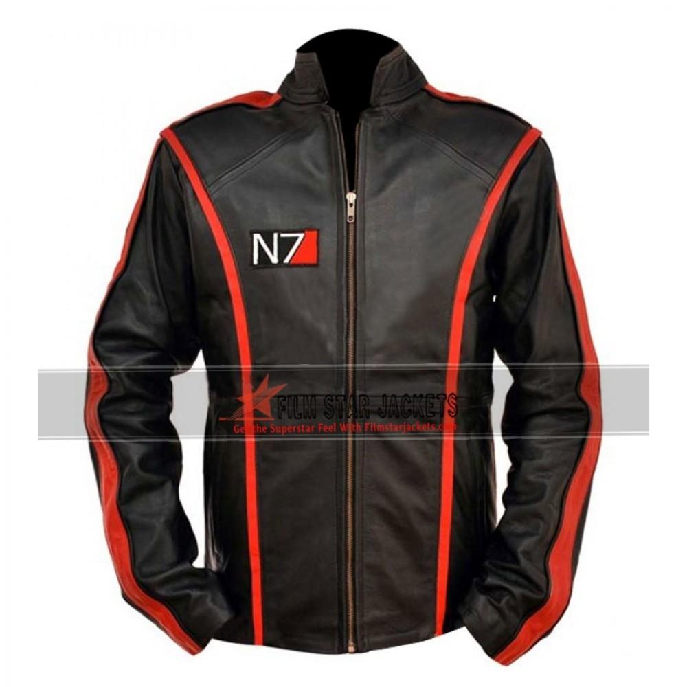 Replica Mass Effect 3 Commander Shepard N7 Leather Jacket