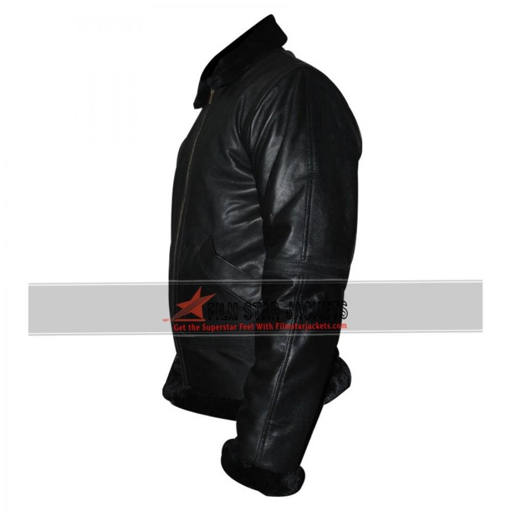 Mens Bomber Faux Fur Collar Jacket