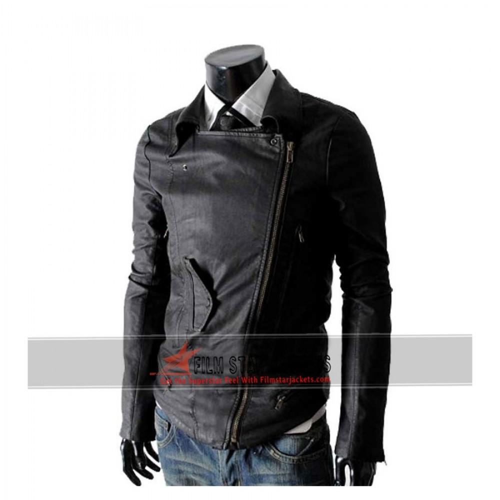 Multi Pocket Slim-fit Rider Black Jacket