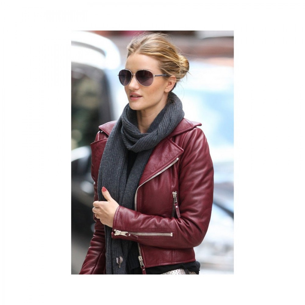 Rosie Huntington Whiteley Red Jacket