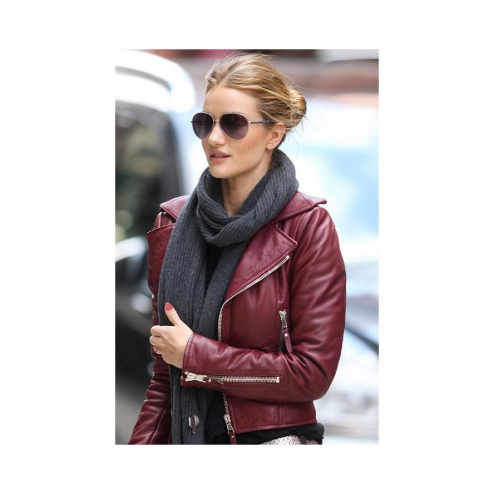 Rosie Huntington Whiteley Red Jacket