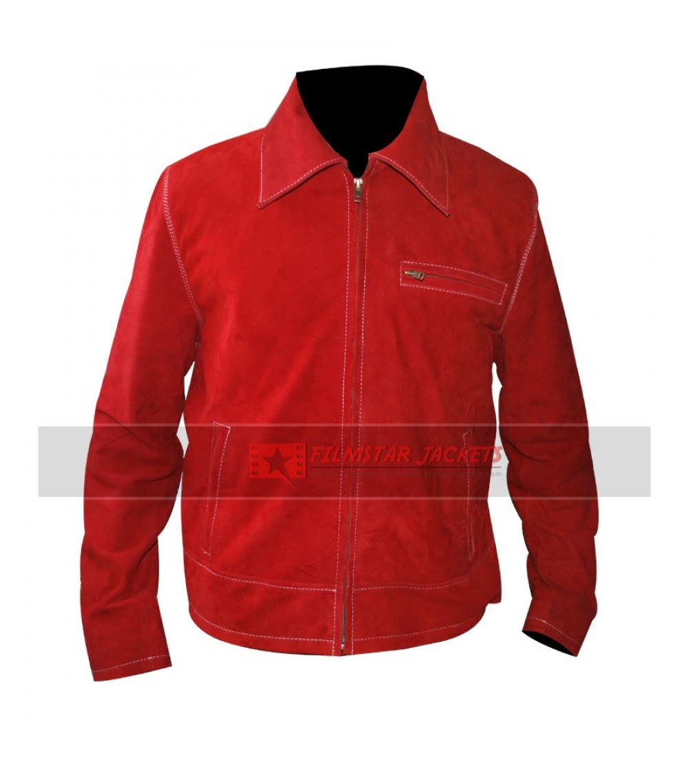 Red superman leather jacket