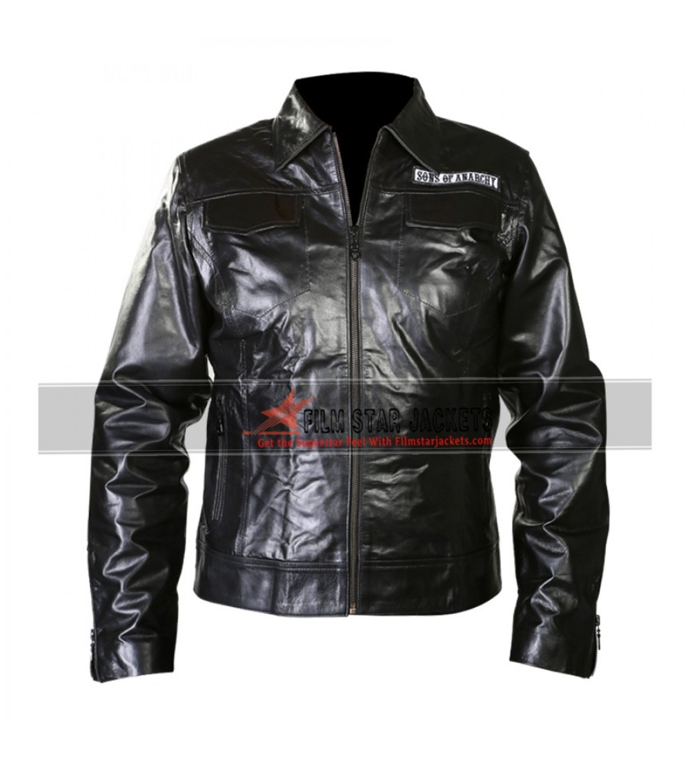 sons of anarchy biker jacket with patches. Black Bedroom Furniture Sets. Home Design Ideas