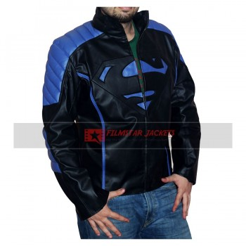Superman Blue & Black Jacket
