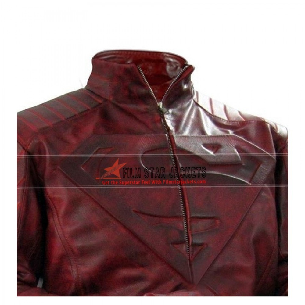 Superman Smallville Red Distressed Jacket
