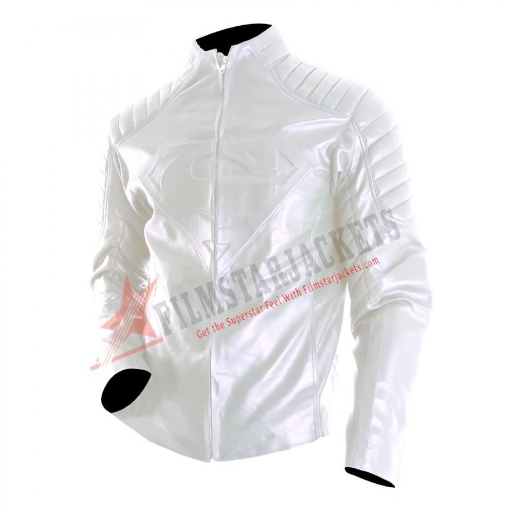Superman SmallVille Style White Jacket