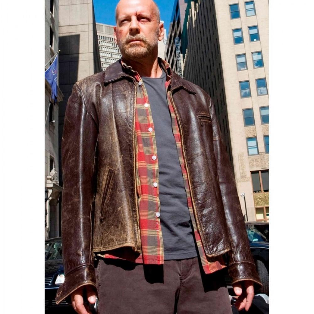 Surrogates Bruce Willis (Tom Greer) Leather Jacket