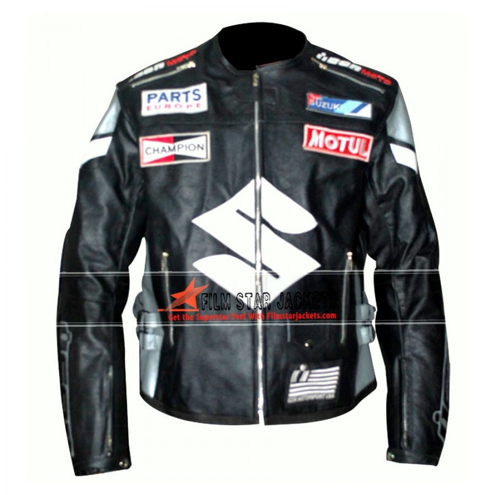 Suzuki Black Motorcycle Jacket
