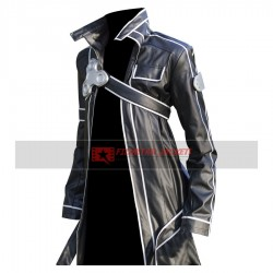 Sword Art Online Kirito Black Jacket Cosplay Costume