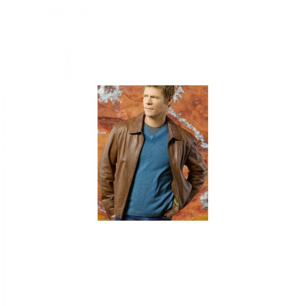 V: Father Jack Landry (Joel Gretsch) Leather Jacket