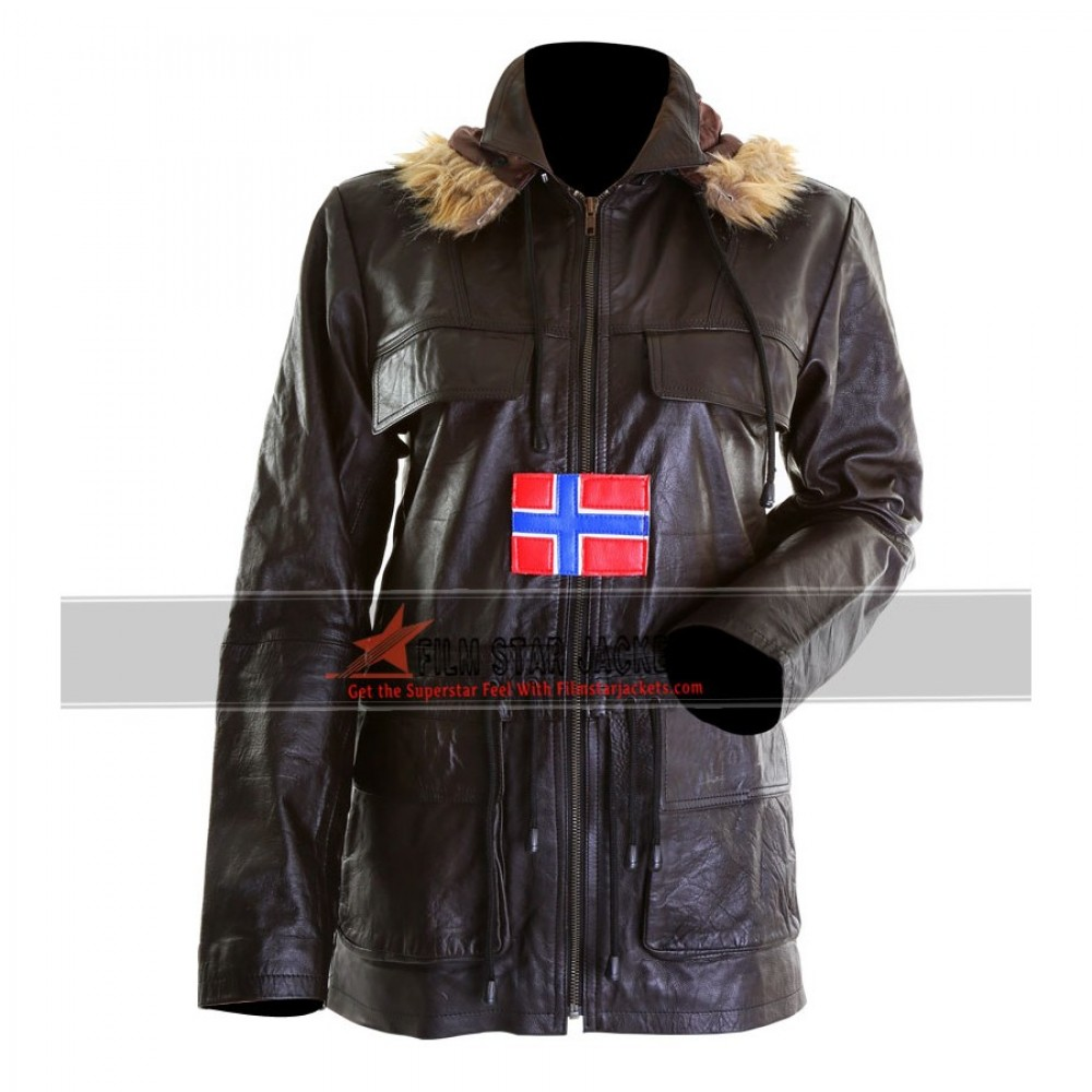 Women's Fur Hooded Bomber Jacket