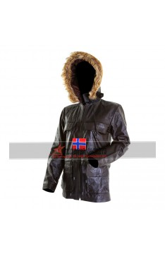 Women's Fur Hooded Bomber Jacket
