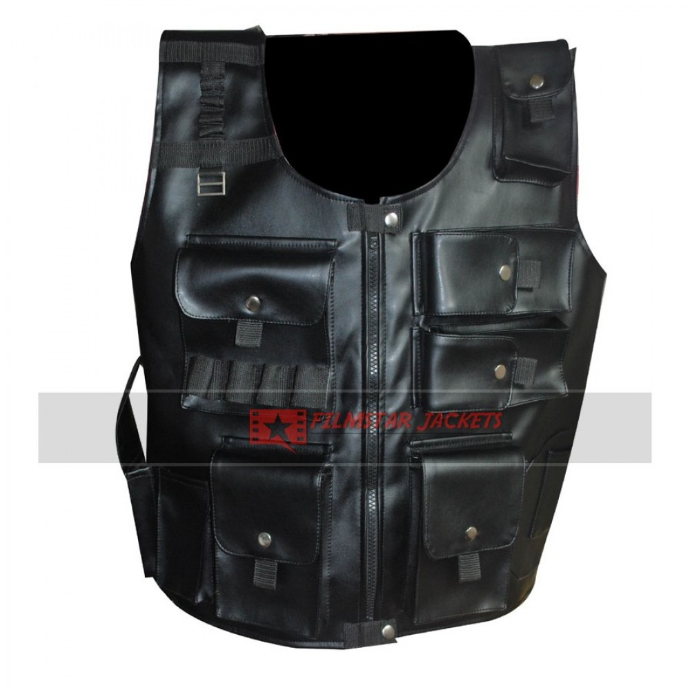 WWE Roman Reigns UTG Faux Leather Vest
